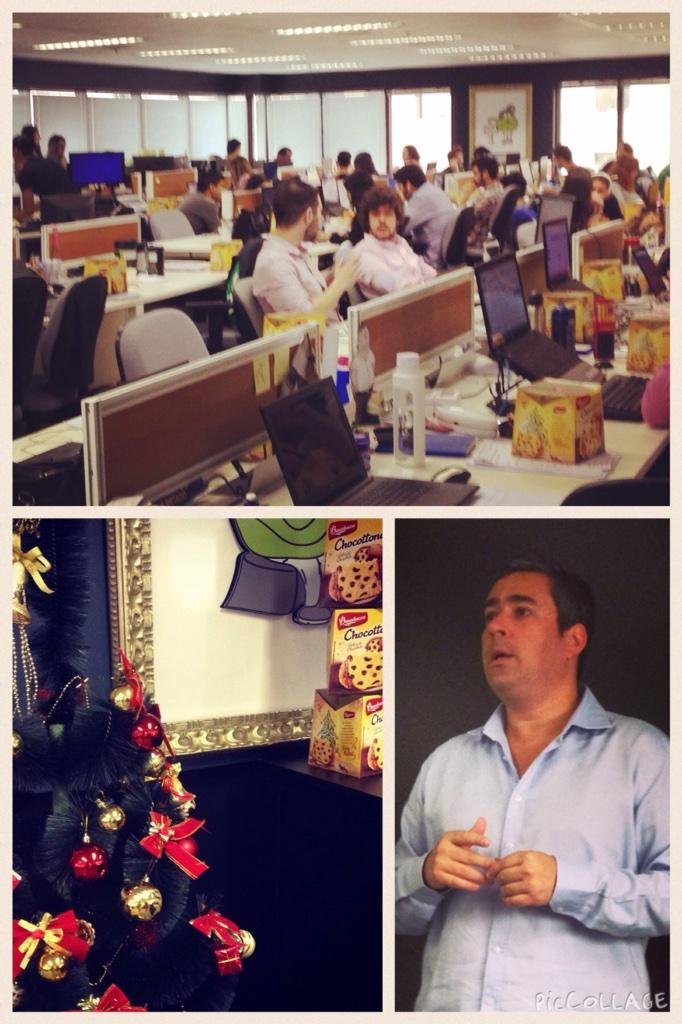 Its #Christmas at Jussi! @xavierpenat gifts Chocottone to his team #50PLatam http://t.co/yHRLpXxxYI