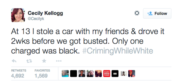 "So painful, but so important. Thank you conscious white people. ""@TheRoot: #CrimingWhileWhite http://t.co/tm24JZ975h http://t.co/0Hcm6id72r"""