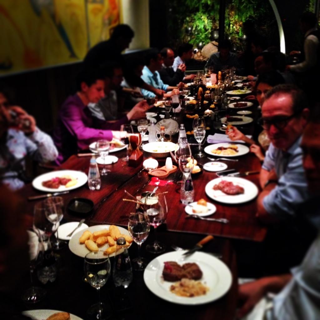 Fun entrepreneur dinner last night! @alexandrinbrami @matleroux @eDigitalFactory @MyLittleBrasil #50PLatam #steak http://t.co/cHPisS6wOE