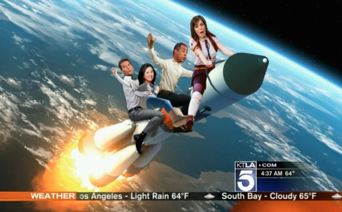 It got better, @KTLA is headed to space & they're... rowdie. @henrydicarlo @ktlagingerchan @MeganHenderson @ChrisKTLA http://t.co/sQ1Rj5sy2k