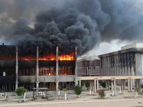 #Benghazi university established N 1955 by a royal decree as the 1st university N #Libya is set ablaze by rocket fire http://t.co/Yf5WMcy9cV