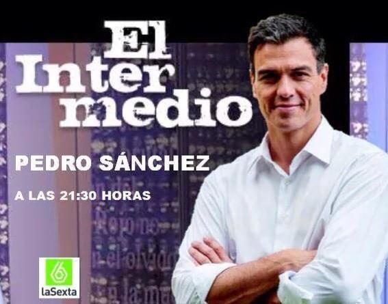 Hoy @sanchezcastejon en el @El_Intermedio hay que verlo http://t.co/EqB5kxuod1