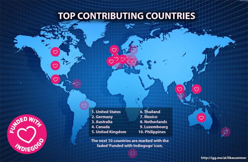 Indiegogo contributions for @LikeSummerFilm from every continent but Africa. C'mon, Africa http://t.co/yMTApf4Viz http://t.co/qFyOoiTOa8