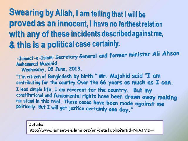 """""""This is absolutely a political and biased case"""". We ppl of Bangladesh demand immediate release of #FreeMujahid @UN http://t.co/HCGdYiXhLx"""