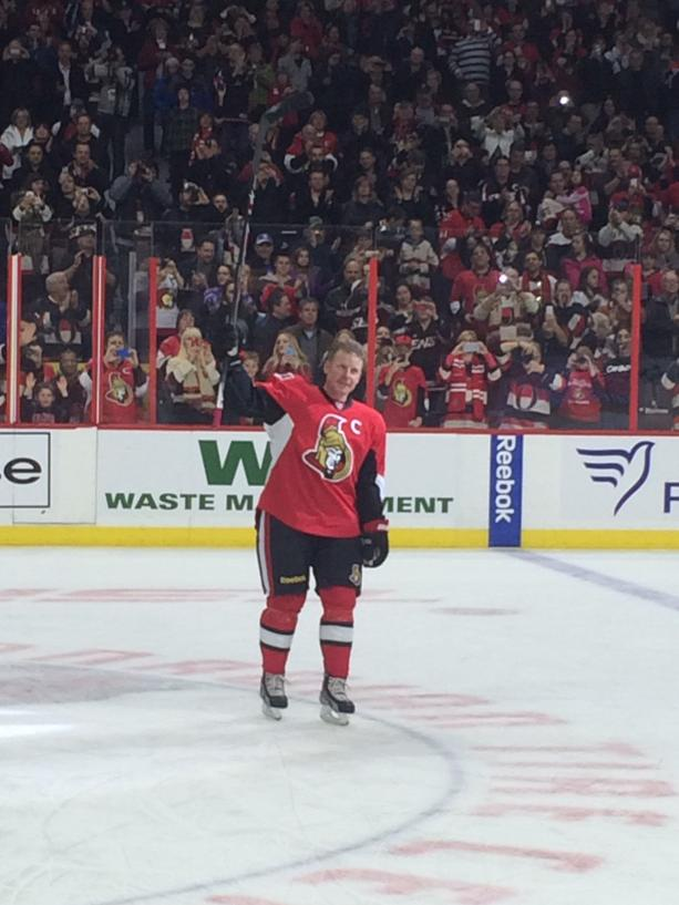 Pretty special night. None of the players wanted to leave the ice http://t.co/5j28kBQZmG