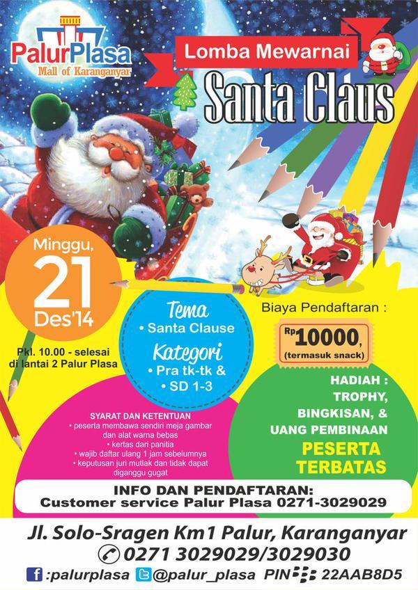 Solo Event On Twitter Lomba Mewarnai Santa Claus Pra Tk Tk Sd 1