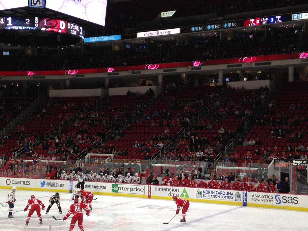 Image result for carolina hurricanes empty seats