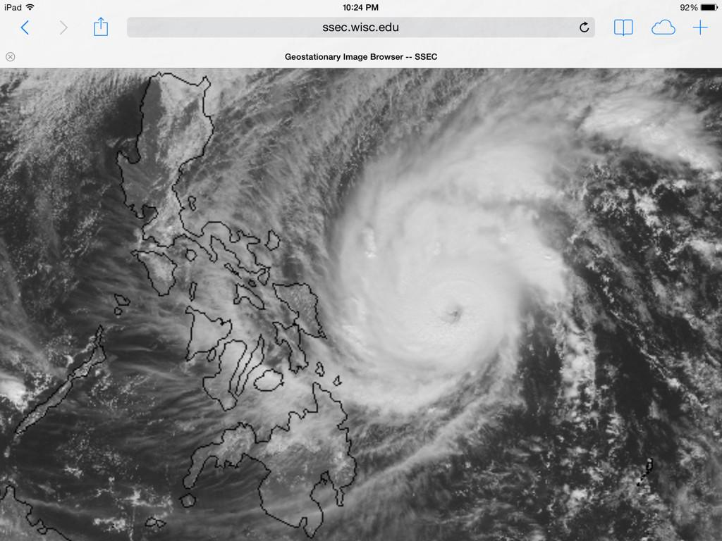 Latest visible sat image #RubyPH #Hagupit nearing the Philippines. http://t.co/VLW5ixcdI0