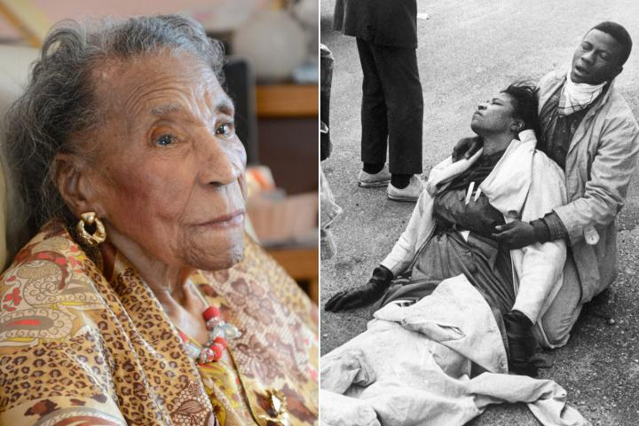 103 yr old activists remembers what US did to blacks who dared make a stand in 1965. http://t.co/oJQw7bv7A2 #Ferguson http://t.co/bUwYKlYJFO