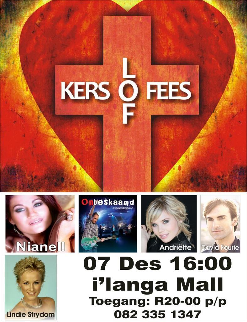 """Vanaand die grootste Kersloffees in Suid-Afrika @RadioLaeveld @lindiestrydom """"@dieandrewjames: http://t.co/XGbou9IFA4"""""""