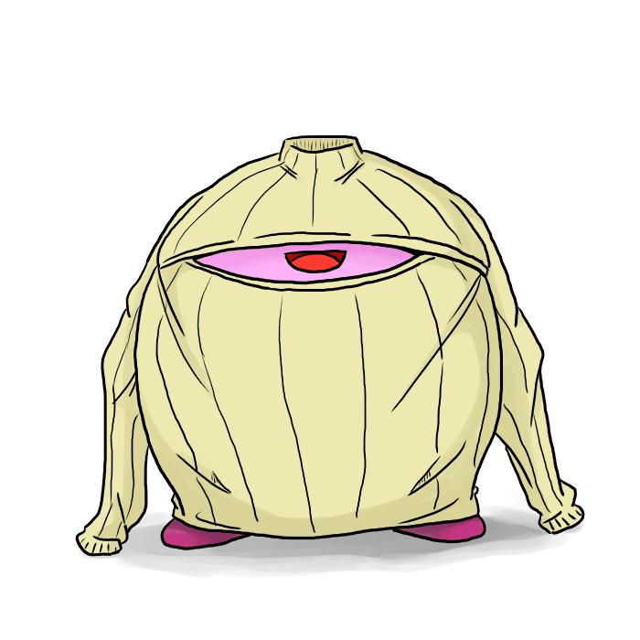 巷で話題のあのセーターにカービィが興味を示したようです http://t.co/kBgGtr42rw