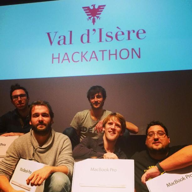 Val D'Isère vient d'officialiser la nouvelle  : SQLI remporte le #HackathonVDI http://t.co/x1gPtsikRv