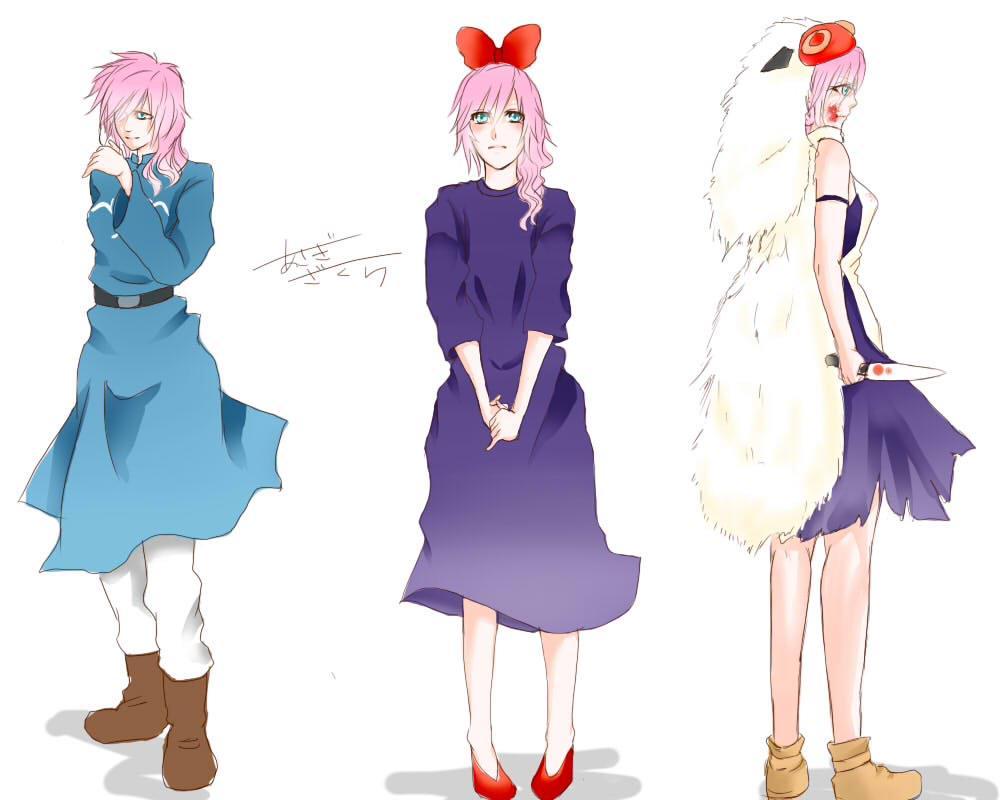 #FF版深夜のお絵描き60分一本勝負  お題:アニメ風  某アニメの好きキャラの衣装をライトさんに着てもらいました。 時間が足りませんでした_(:3」∠)_