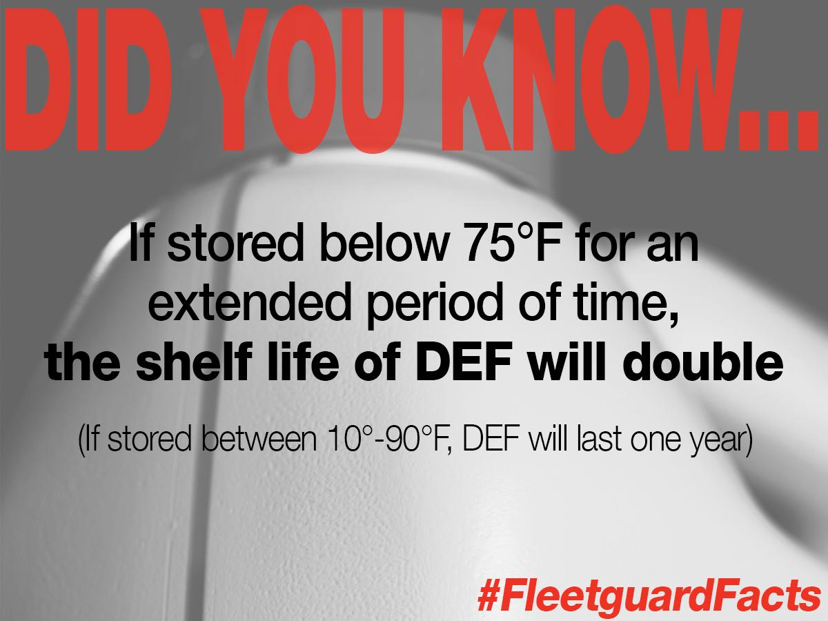 How Long Does Def Last >> Fleetguardfacts Hashtag On Twitter