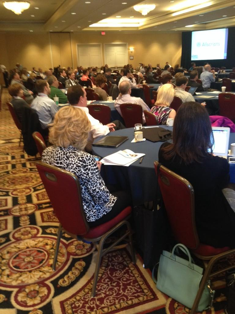 GREAT audience for the CIO panel discussion!! #GC3HIMSS http://t.co/bdfXjjz7GR