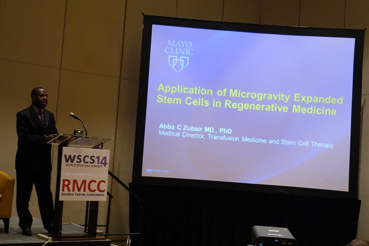 """We want to measure cell proliferation in microgravity versus gravity of Earth."" @MayoClinic Dr. Abba Zubair. #WSCS14 http://t.co/xycz7LSAwq"
