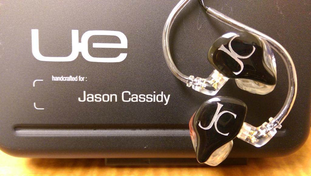 His new @UltimateEarsPro UE11's. These are super cool in ear monitors. Contact @LetsTalkEarz for more info! http://t.co/hAF0BFrAWL