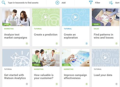 IBM Watson Analytics screen-shot