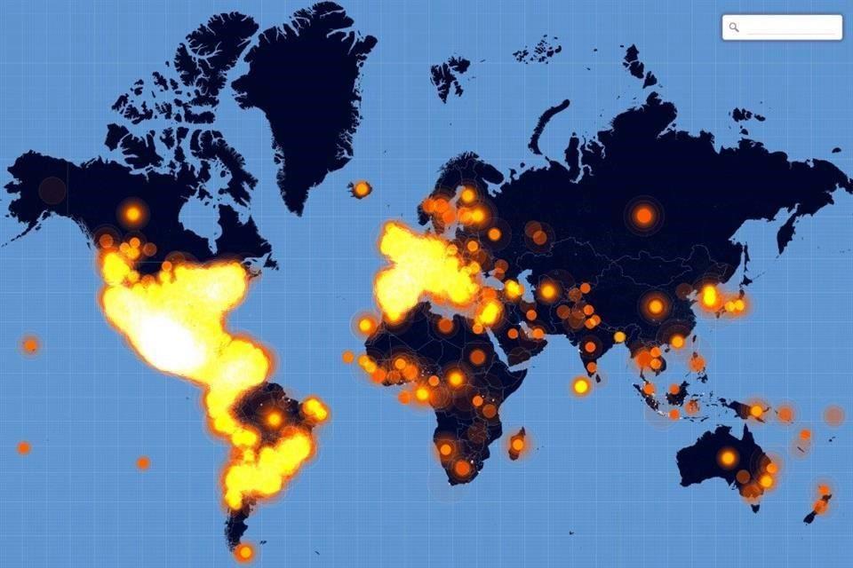 Twitter publicó un mapa animado que muestra el uso del hashtag #YaMeCansé en el planeta http://t.co/9hFCjTmQLQ http://t.co/wkDXlHza6R