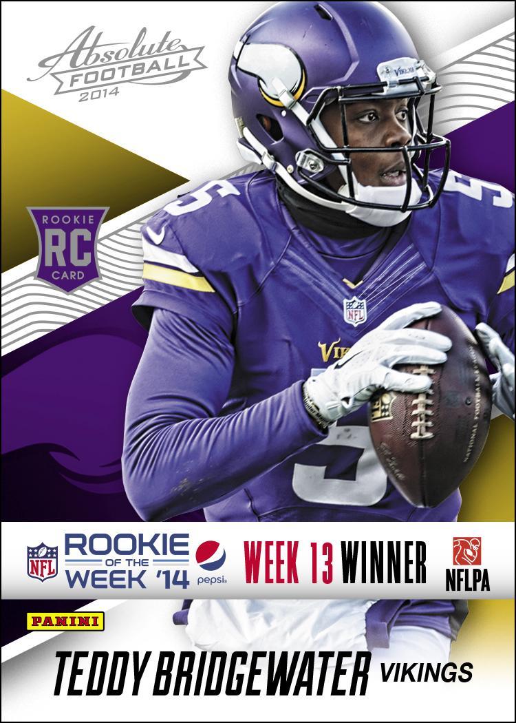 """@PaniniAmerica: @Vikings QB @teddyb_h2o named Week 13 Pepsi NFL Rookie of the Week #Collect #NFL http://t.co/eF1WYhggw9"""