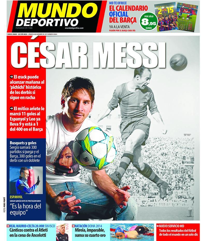 Portada de Mundo Deportivo del 6 de Diciembre