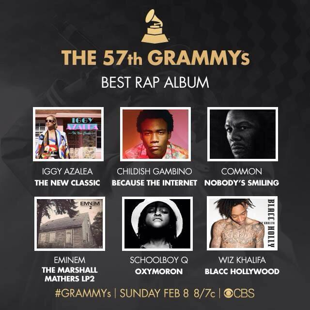 Congrats to @wizkhalifa for #BlaccHollywood being nominated for Best Rap Album! @TheGRAMMYs http://t.co/Jb1BL9oSBS