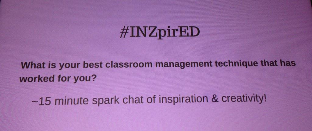 Let's talk about classroom management techniques today...#INZpirED http://t.co/CH05YsQrAG