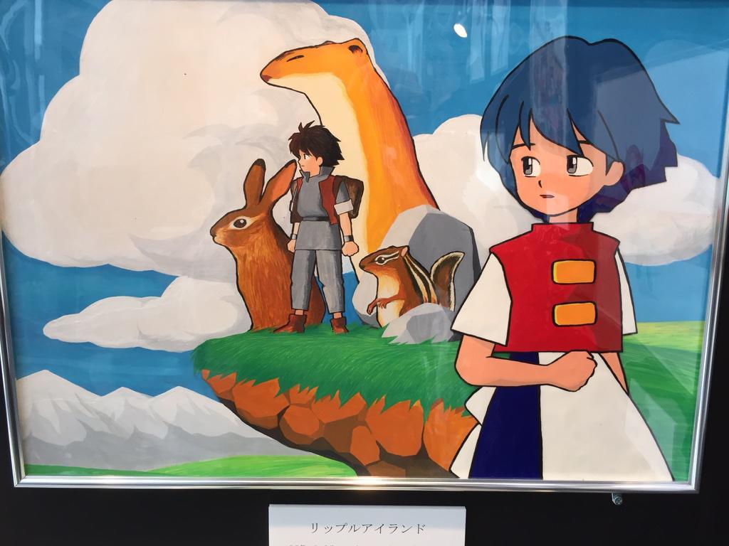 サンソフト展でリップルアイランドのパッケージ、ポスター原画が見れるなんて!! http://t.co/ZN3FrpC5lo