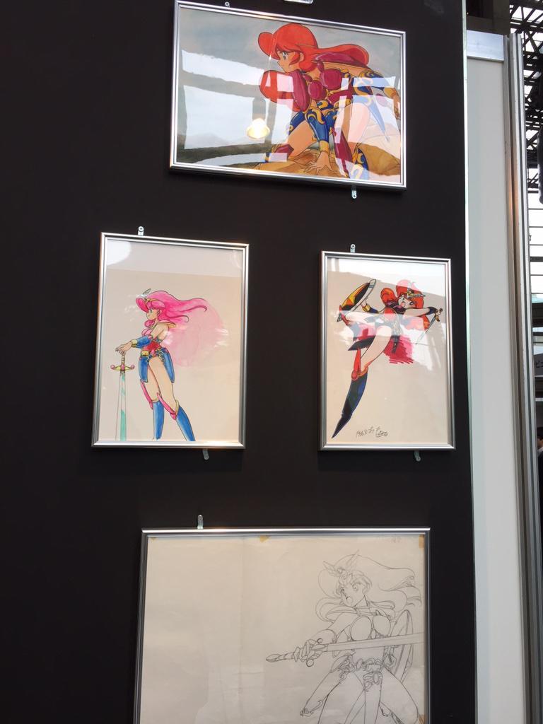 サンソフト展、もりけん先生の「マドゥーラの翼」原画!! http://t.co/yu3jwuGCxK