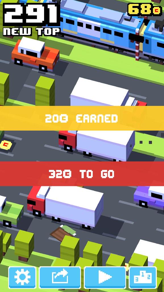 Road almost tripled my previous high score crossyroad