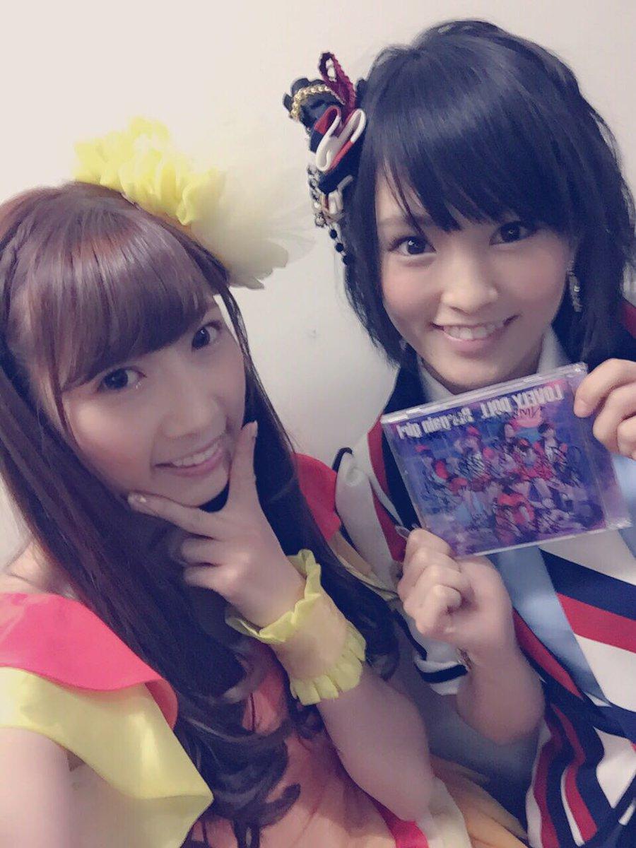 NMB48さんのステージはリハーサルを観させて頂いて大好きな曲ばかりで楽しかった〜♡ そして尊敬の大好きな山本彩さん!本当にさや姉って感じで、しかもお優しくて、もっと②大好きになりました(´;ω;`)♪幸せ!愛迫も頑張る! #らぶどる http://t.co/TboOCgxeRB