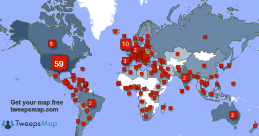 My followers live in USA (59%), UK.(10%)... Get your free map: http://t.co/9ywqIDUDEG http://t.co/gC2I1Khhfm