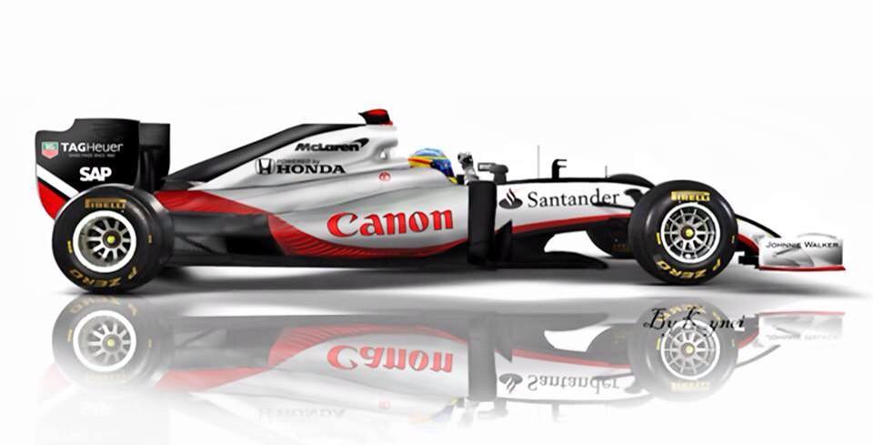 Force India  Car Side Profile