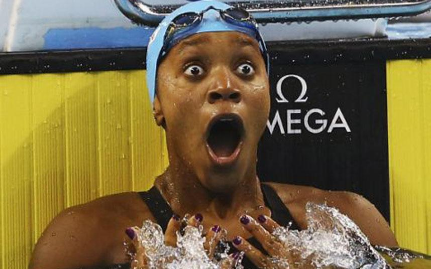 """Big up! RT @TelegraphSport Jamaica's Alia Atkinson becomes first black woman to win world swimming title: http://t.co/l8zgEx4bYh"""""""""""