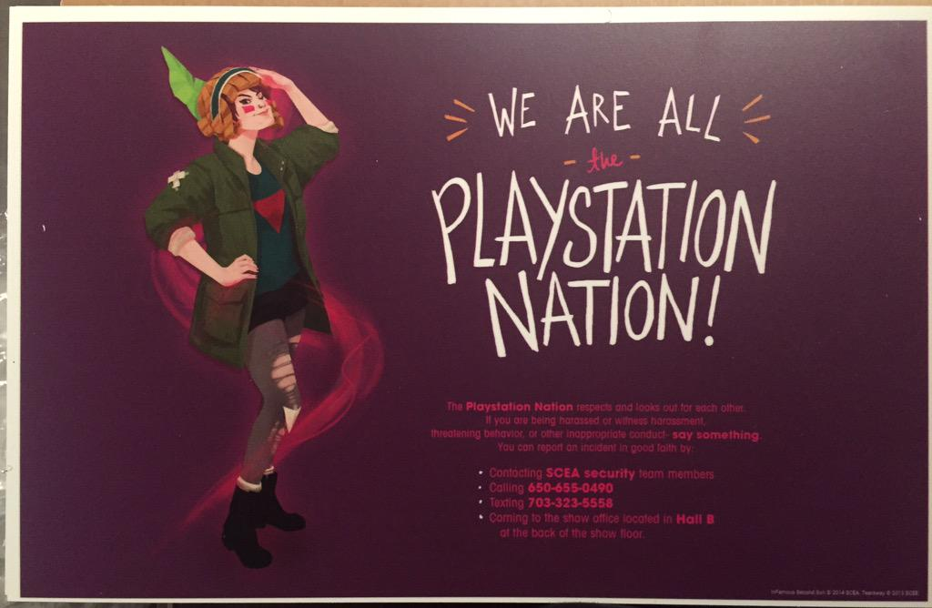 Extremely proud of @Naughty_Dog's @beavs + @lazerlily for #cosplayisnotconsent posters for #PlayStationExperience! http://t.co/PK1Pk6m2Fa