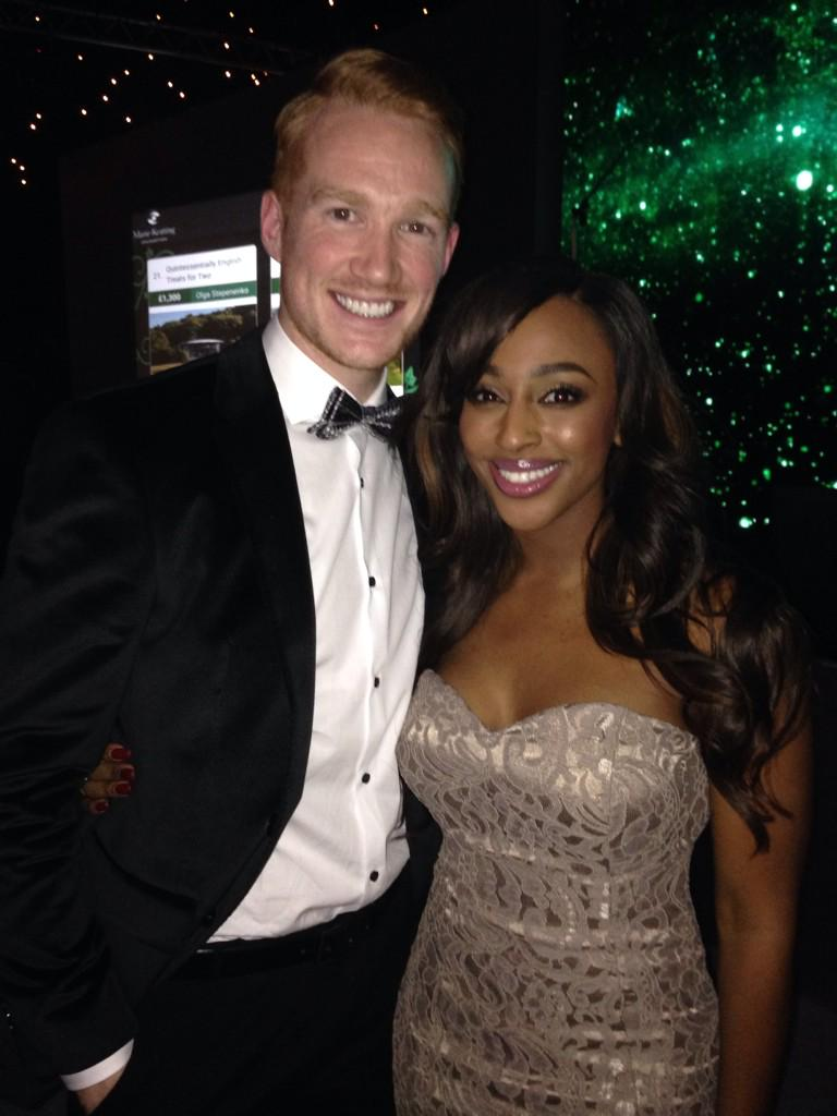 RT @GregJRutherford: Myself and the beautiful @alexandramusic at the Emeralds and Ivy ball tonight. http://t.co/2egAUtY54L
