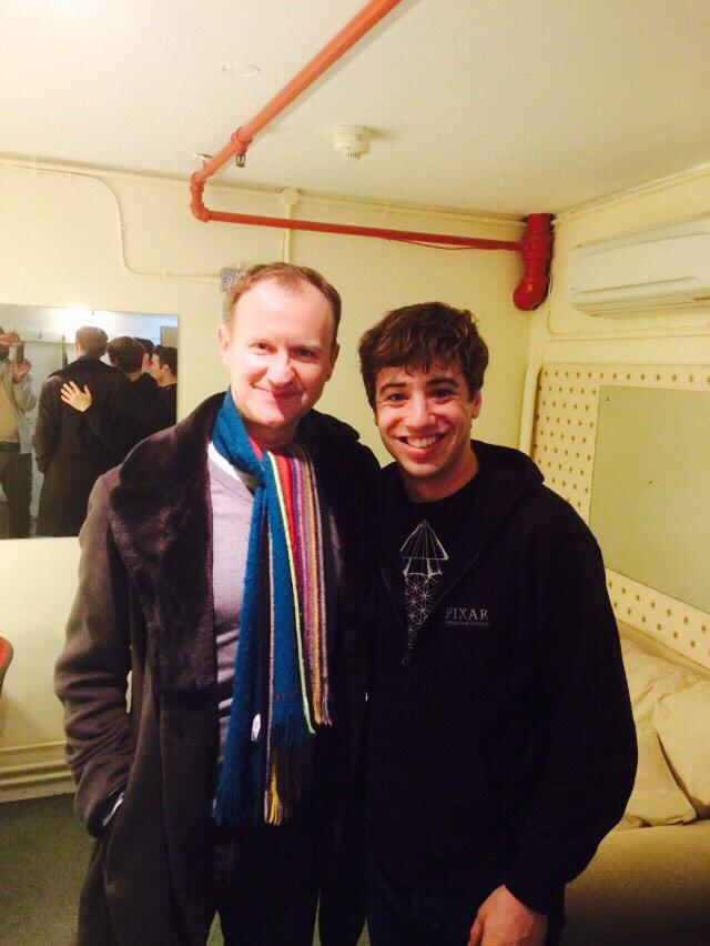Such a pleasure to meet the incredible @Markgatiss tonight! Okay I'll say it- I love London. http://t.co/EUmEDBLTrJ
