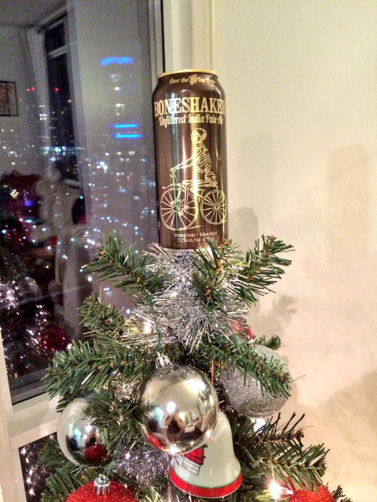 Wouldnt be Christmas without our favourite tree-topper. 'Tis always the season for Bones! @amsterdambeer http://t.co/f99suRNMTe