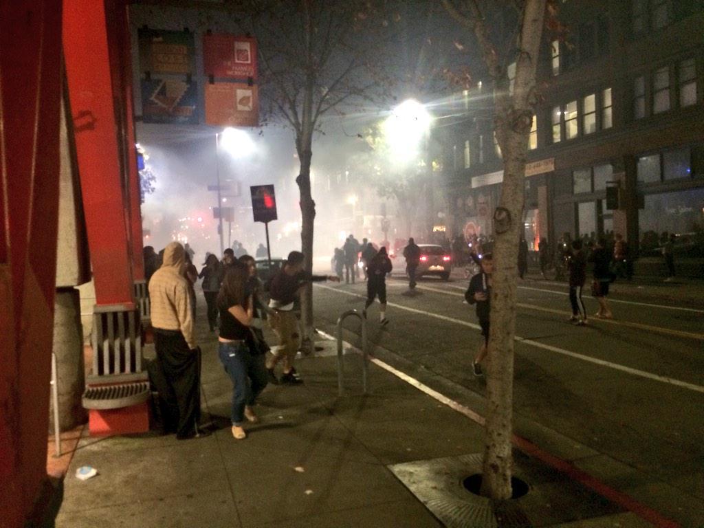 The looting begins in Berkeley and Oakland