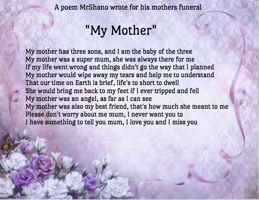 """Mr. Shano on Twitter: """"A poem i wrote for my mothers ..."""