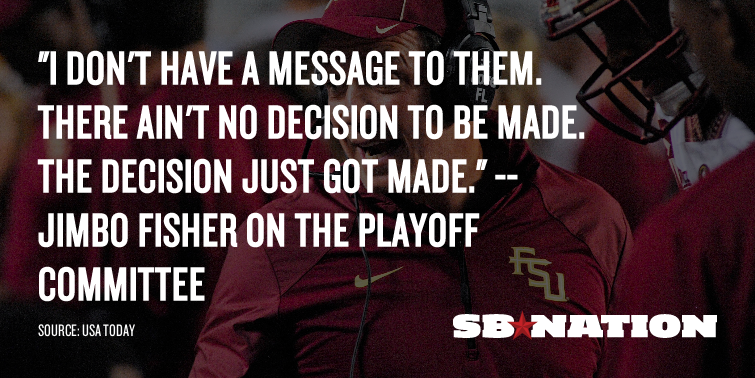 Jimbo Fisher on Florida State and the playoff committee #Noles #FSU http://t.co/pwT7rnO4qa http://t.co/LVzq2boWUI