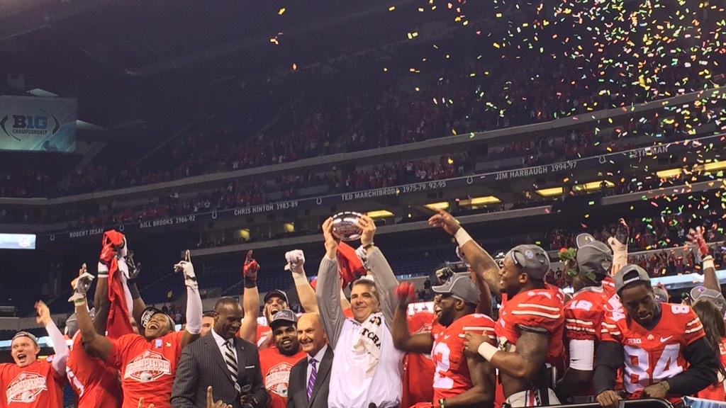 Your 2014 #B1GFootball Champs: @OhioStAthletics. http://t.co/XLWG4Xna6G