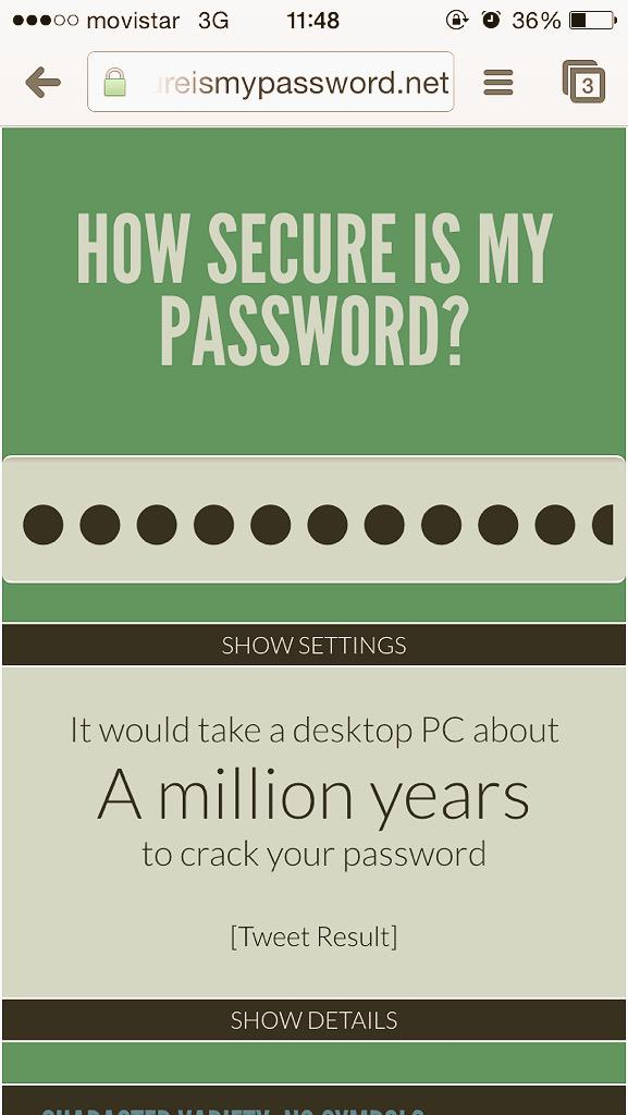 টুইটারে #howsecureismypassword হ্যাশট্যাগ
