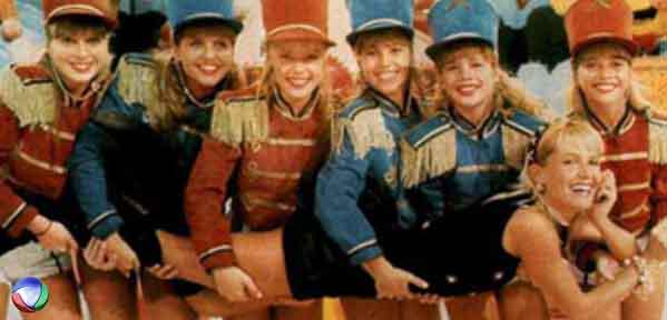 Xuxa e suas paquitas nos anos 80/90.