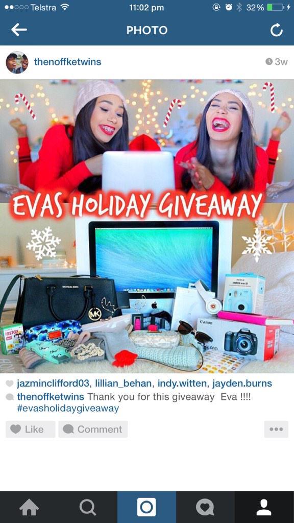 Evas christmas giveaway flyer