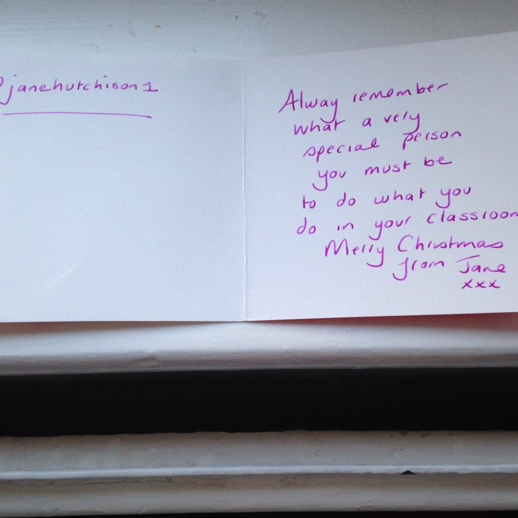 @janehutchison1 I got your Xmas card! Such beautiful words. Thank you!x #pedagooxmas http://t.co/bryQQBvJ0V