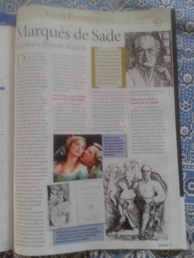 "Amparo Las�n on Twitter: ""2 p�ginas sobre Sade en ""Vidas ..."