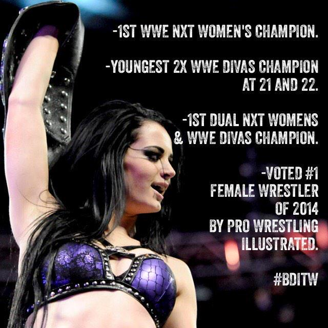 Record breaker. History maker. Diva of the Year. Vote tomorrow. @realpaigewwe #slammyawards http://t.co/tmIOhCWIHO