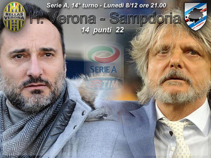 Verona Sampdoria, come vedere streaming gratis partita in diretta tv live oggi