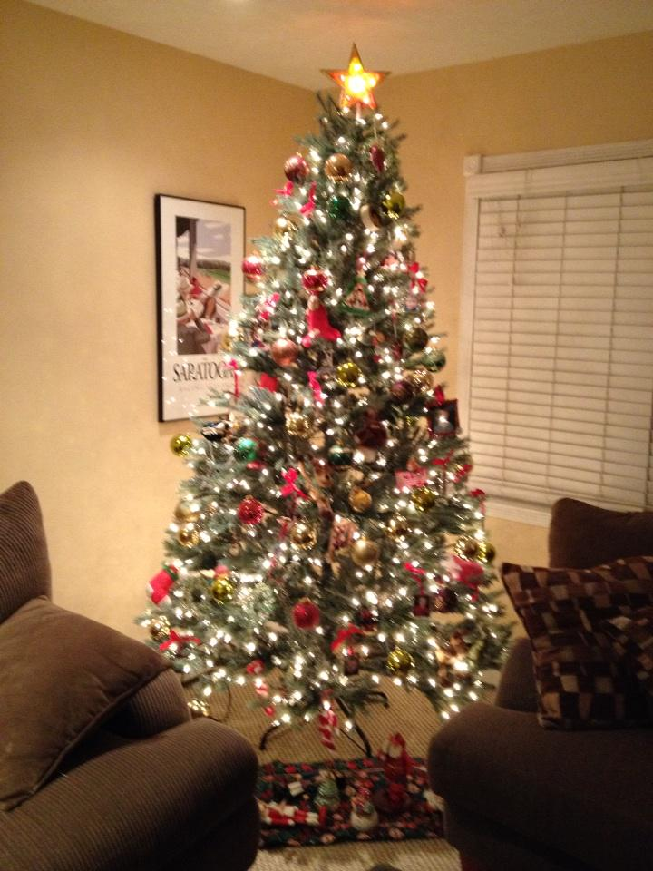 I'd say a good days work! ;) #christmas #tree #decorations #eggnog http://t.co/z3oIIRQ7wd